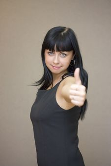 Free Girl OK Sign Stock Photography - 8929692