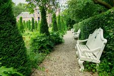 Free PUBLIC DOMAIN DEDICATION - Pixabay - Digionbew 11. 04-07-16 Garden With Benches Frankendael LOW  RES DSC04315 Stock Photos - 89248593