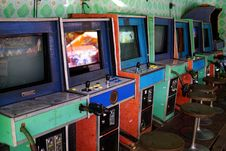 Free Decaying Arcade Machines Stock Photography - 89248872