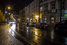 Free Krakow Streets By Night, Poland Stock Images - 89249604