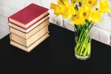 Free Books On Table Stock Image - 89252091