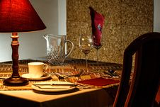 Free Brown And Red Table Lamp Near White Ceramic Mug Stock Images - 89252164