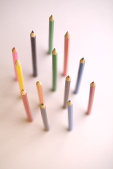 Free Coloured Pencils Royalty Free Stock Photography - 8930187