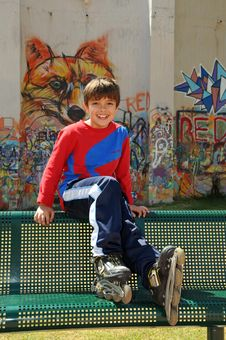 Free Boy Skating On The Rollerblades Stock Images - 8930764