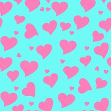 Free Seamless Valentine Pattern Royalty Free Stock Photography - 8930817
