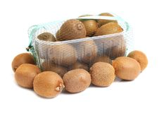 Kiwi In And Near The Box Royalty Free Stock Photo