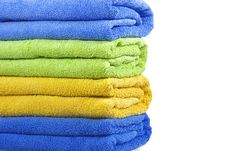 Free Colorful Bath Towels Royalty Free Stock Images - 8932429
