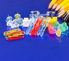 Free Material Of School On Blue Background Royalty Free Stock Images - 8932439
