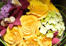 Textile Flowers Royalty Free Stock Image