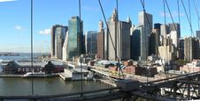 Free Buildings And Bridges From Manhattan Royalty Free Stock Image - 8932926