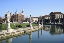 Prato Della Valle Stock Photo