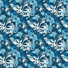 Free Seamless Blue Pattern Royalty Free Stock Image - 8933776
