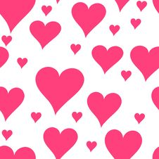 Free Seamless Heart Pattern Stock Photo - 8933910