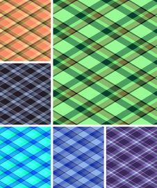 Seamless Plaid Patterns Stock Photos