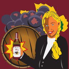 Free Girl Holding Bottle Of Wine Stock Photo - 8934280