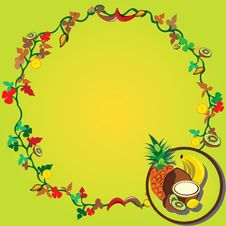 Free Tropical Fruit Wreath Stock Images - 8934324