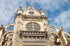 Free Facade Of An Ancient Cathedral Stock Image - 8934761