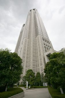 High Building In Tokyo Royalty Free Stock Images