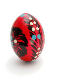 Russian Easter Egg Isolated Stock Image