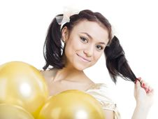 Free Girl With Balloons Royalty Free Stock Images - 8937139