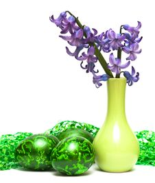 Free Easter Eggs With Flowers Stock Photography - 8937452