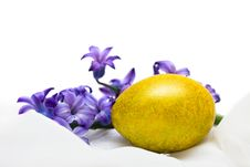 Free Easter Egg With Flowers Stock Image - 8937881