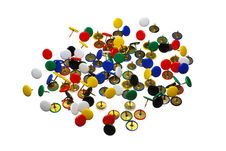 Free Close Up Of Various Pushpins Royalty Free Stock Images - 8937889