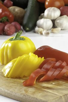 Free Sliced Peppers Royalty Free Stock Photos - 8938338