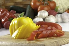 Free Sliced Peppers Stock Photo - 8938350