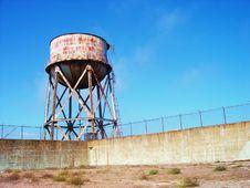 Alcatraz Water Tower Stock Photography