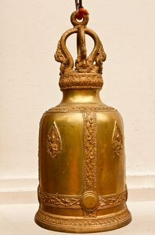 Free Thai Style Brass Bell Royalty Free Stock Photos - 8939498