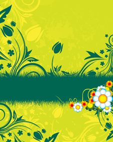 Free Green Floral Background Royalty Free Stock Photos - 8939528