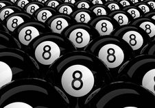 Free Many Eight Balls Royalty Free Stock Images - 8939769