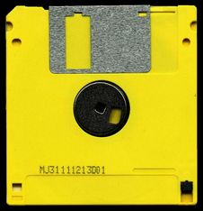 Free Yellow And Black Diskette Mj31111213d01 Royalty Free Stock Images - 89304659