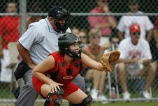 Free Baseball Catcher Position Stock Image - 89304791