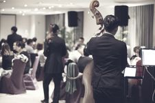 Free Orchestra Playing In Restaurant Stock Image - 89305761