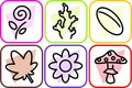 Free Biological Icons Set Royalty Free Stock Images - 8945679
