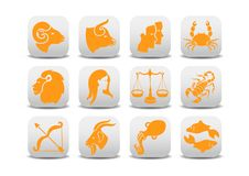 Free Zodiac Icons Royalty Free Stock Photography - 8940427