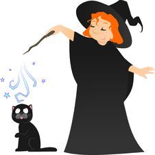 Free Little Witch Stock Images - 8940874