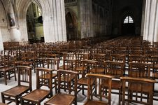 Free Chairs In The Church Stock Photo - 8942490