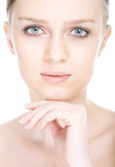 Close-up Beauty Girl Portrait Royalty Free Stock Photography