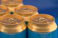 Free Soda (beer) Cans Pyramid Royalty Free Stock Photos - 8943878