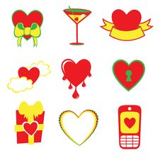 Free Love Icons Stock Photo - 8945080