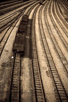 Free Train Depot Royalty Free Stock Image - 8945606