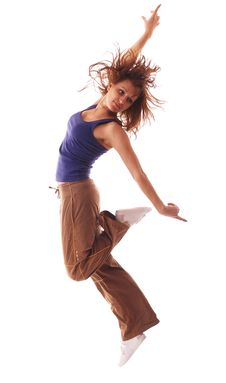 Free Attractive Teenage Dancing Over White Background Stock Photography - 8945812