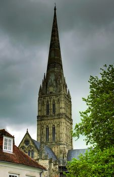 Free Salisbury Cathedral Spire Royalty Free Stock Photo - 8945885