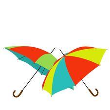Free Rainbow Umbrelass Royalty Free Stock Photo - 8946745