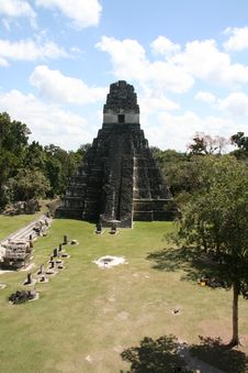 Tikal Temple Royalty Free Stock Photos