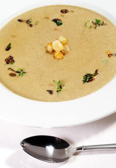 Cream Of Mushroom Soup Royalty Free Stock Photography