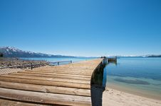 Pier At Lake Tahoe Vacation Stock Images